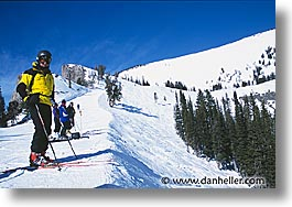 america, horizontal, jackson hole, nanstern, north america, skiers, snow, united states, winter, wyoming, photograph