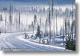 america, horizontal, landscapes, north america, snow, united states, winter, wyoming, yellowstone, photograph