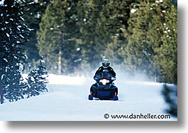 america, horizontal, mobile, north america, people, snow, united states, winter, wyoming, yellowstone, photograph