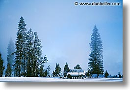 america, coach, horizontal, north america, snow, steamy, united states, winter, wyoming, yellowstone, photograph