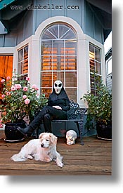 dogs, goul, halloween, homes, personal, slow exposure, vertical, photograph