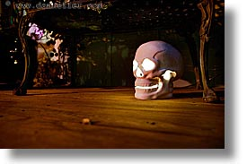 halloween, homes, horizontal, illuminated, long exposure, personal, skulls, photograph