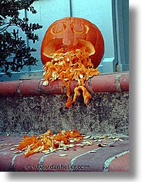 halloween, homes, personal, pumpkins, vertical, vomit, photograph