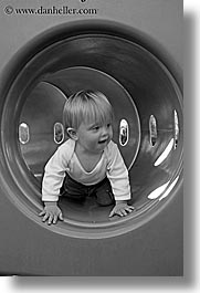 aug, babies, black and white, boys, infant, jacks, oct, play, tunnel, vertical, photograph