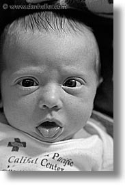 babies, baby face, black and white, boys, expression, infant, jacks, vertical, photograph