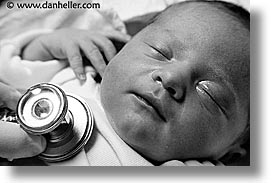 babies, birth, black and white, boys, checkup, horizontal, infant, jacks, nd hour, photograph