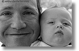 babies, black and white, boys, fathers, horizontal, infant, jacks, photograph