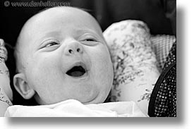 babies, black and white, boys, faces, horizontal, infant, jacks, smiles, photograph