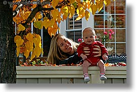 babies, boys, fall colors, fences, horizontal, infant, jack and jill, jacks, leafy, photograph