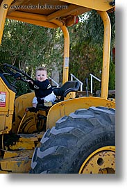 babies, boys, childrens, infant, jacks, nipton, people, tractor, vertical, photograph