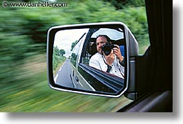 cars, horizontal, mirrors, personal, self-portrait, photograph