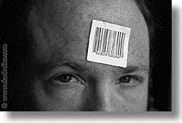 barcode, dans, horizontal, personal, self-portrait, photograph