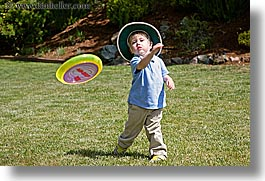 activities, boys, childrens, clothes, frisbee, hats, horizontal, jacks, mothers day, people, personal, throwing, toddlers, photograph