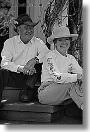 black and white, clothes, hats, larry, marlyn, mothers day, personal, vertical, photograph